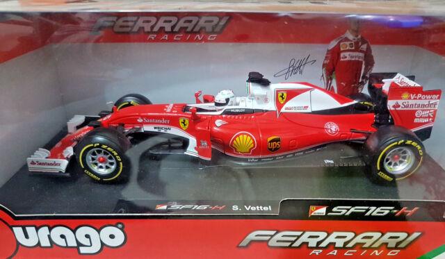 Ferrari Racing F1 SF16-H S. Vettel - 2016 - Bburago 1:18 - Nuova