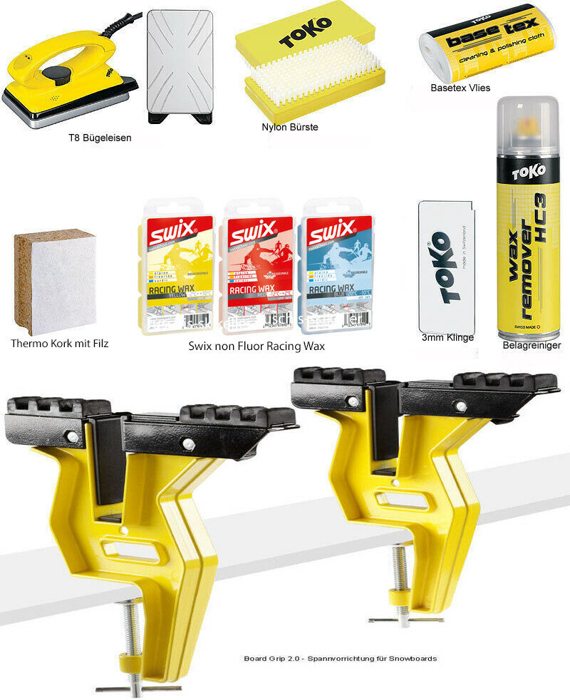 Toko Skiwax Start Set Board 10-Teilig con Plancha de Ropa y Tensor