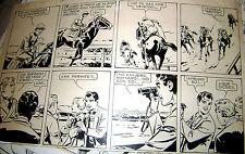ATHOS COZZI ORIGINAL ART PAGE ADVENTURE TURF COMIC PATORUZITO ARGENTINA 1958