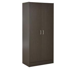 Alpine-2-Door-Wardrobe-Black-Brown-By-Fantastic-Furniture
