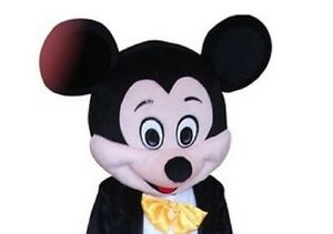 Halloween Mickey Mouse Mascot Costume Dress Cartoon Character Only Head Unique