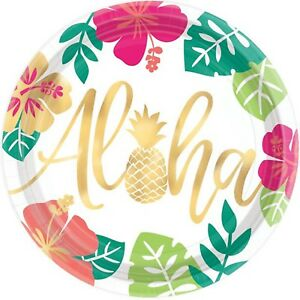 Hawaii party glasses Aloha 8 pcs Party Party Buffet Tropical Cup animation