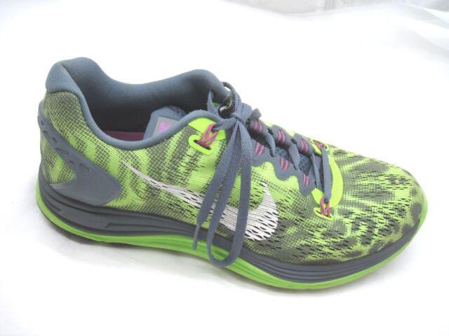 Nike size 9M Lunar Glide 5 green gray womens ladies running tennis shoes