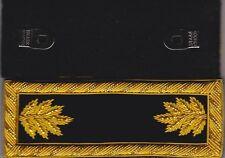 Civil War Staff Major Black Shoulder Boards - Straps wFree $20 Coin
