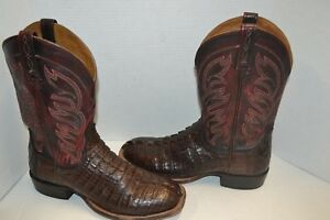 Image is loading Lucchese-EXOTIC-M2685-Mens-Landon-Hornback-Caiman-Tail-