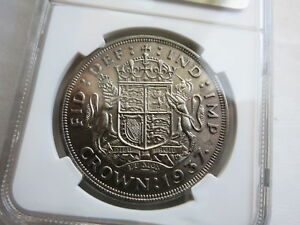GREAT-BRITAIN-1-Crown-1937-NGC-MS-62-UNC