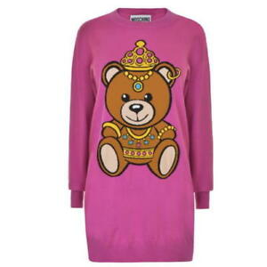 3c77041a7af  795 SS17 Moschino Couture Jeremy Scott CROWNED TEDDY BEAR FUCHSIA ...