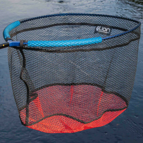 LION Floating Kescherkopf mit Auftriebshilfe Angel Kescher Kopf Netz GUMMIERT