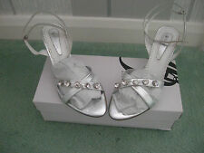 Ladies Shoes/Sandals Ankle Strap Silver Size 3 (36) NEW by Dansi from Spain