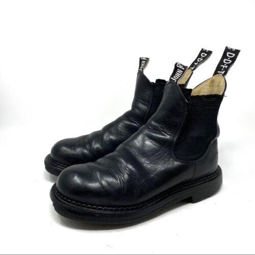 John Fluevog Chelsea Black Pull On Leather