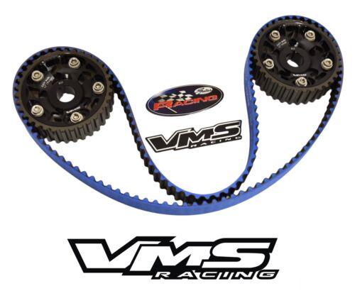 VMS x GATES RACING TIMING BELT /& 2 CAM GEARS FOR 93-01 HONDA PRELUDE H22 BLACK
