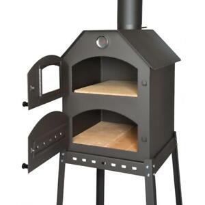 Acerto Profi Pizzaofen Garten Pizza Ofen 40x53x41 Cm Steinbackofen