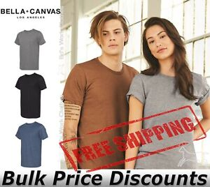 Bella-Canvas-Unisex-Blank-T-Shirt-Top-Sueded-Tee-3301-up-to-2XL