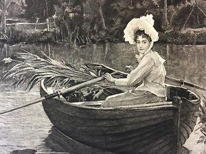 Souvenir-d-039-ete-A-H-Bramtot-gravure-A-Mignon-Ste-Amis-des-Arts-fin-XIX-eme-1894