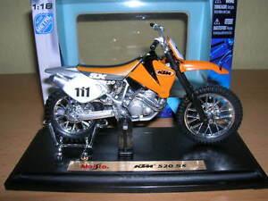maisto ktm 520 sx 520sx motocross moto cross 1 18. Black Bedroom Furniture Sets. Home Design Ideas