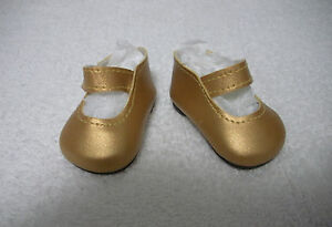 Fits-18-034-Magic-Attic-Doll-Gold-Mary-Janes-Shoes-D1380