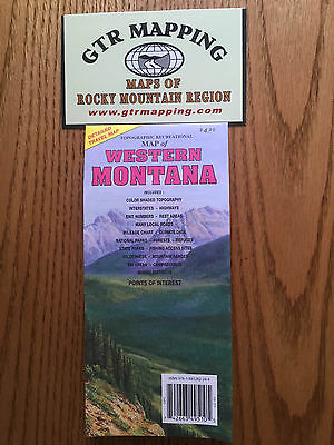 GTR Mapping Topo Recreational Map of Western Montana ISBN 978-1881262-244