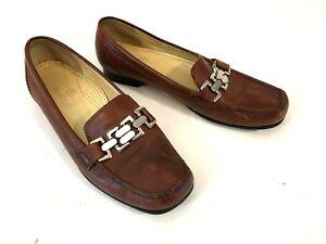 a4e95f034a7 Cole Haan Loafer Womens Sz 8.5B Chain Horse Bit Moc Toe Slip On Shoe ...
