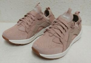 New-120-Earth-Gallivant-Women-039-s-Lace-Up-Knit-Blush-Sneakers-Sz-7