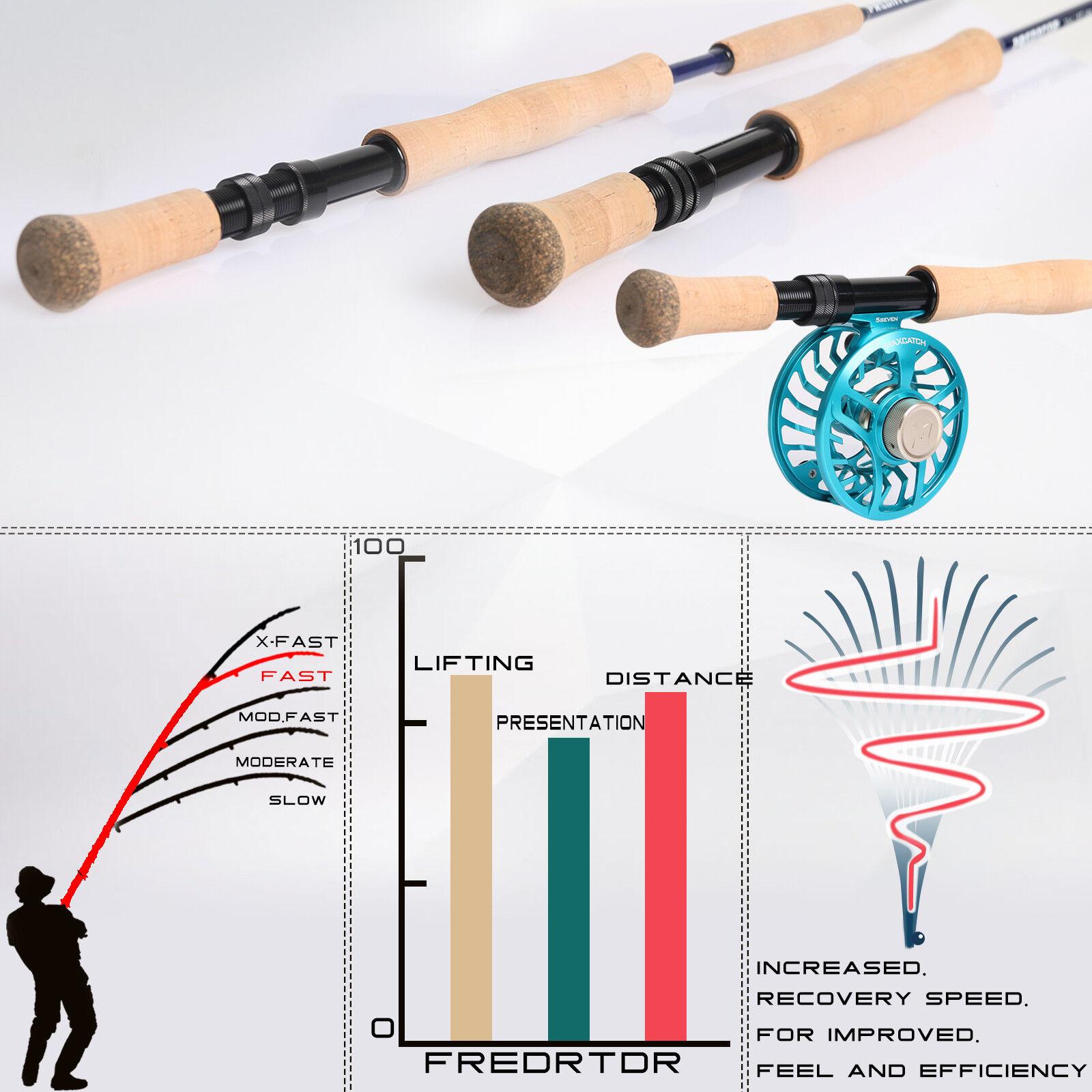 Maxcatch Salzwasser Fliegenruten Fliegenruten Fliegenruten 9ft 8-12wt 4-Teile Spitzenaktion Graphit IM10 74e291