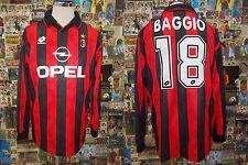 maglia calcio shirt maillot camiseta trikot MILAN R.BAGGIO TG XL