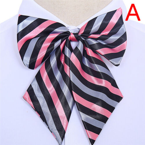 Women Bowties Striped Bow Ties Silk Tie Bow Tie Butterfly Neck Wear Collar GutXJ
