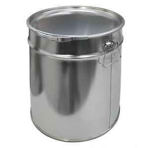 5 Eimer Spannringdeckel 30 Liter Metalleimer Hobbock Blecheimer