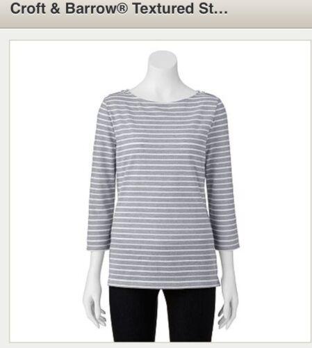 XS//M//L RetailPrice$28.00 SPECIAL$11.50 Women/'s Croft/&Barrow- Multi Colors!!