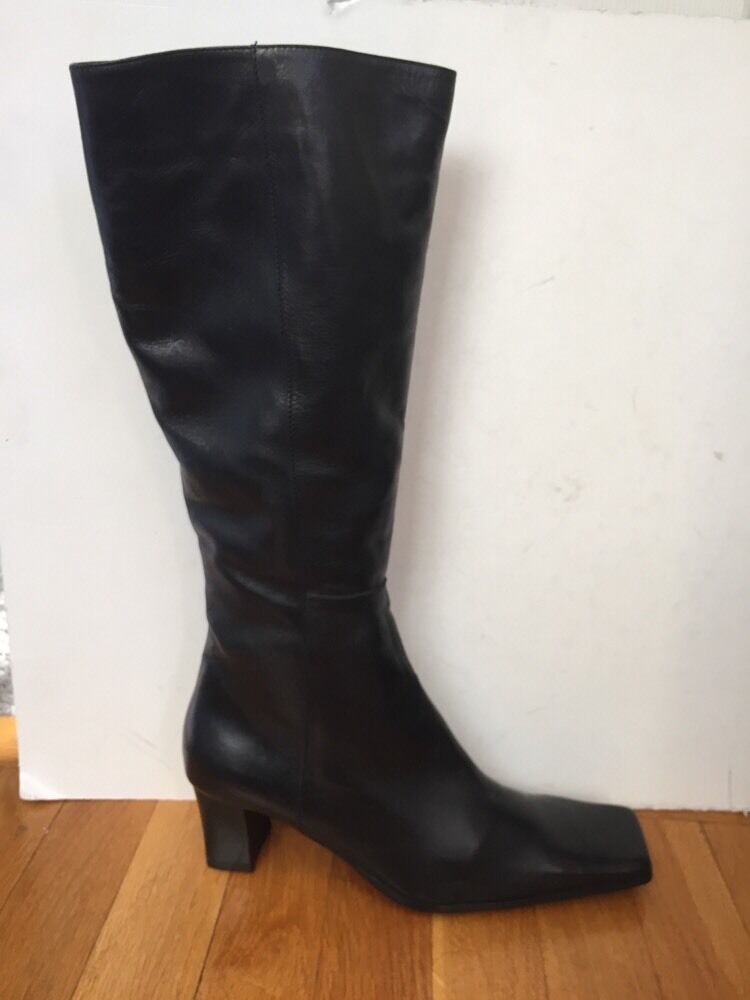 Carlo Pazolini Italy Genuine Fur Genuine Leather Tall Boots Sz 37