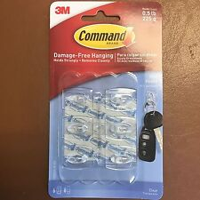 6 x 3M COMMAND MINI HOOKS Damage Free Hanging Hooks SELF ADHESIVE Holds 225G