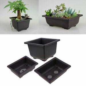 S//M Flower Pot Plastic Balcony Pots Flower Bonsai Bowl Nursery Basin Planter