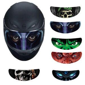 Motorcycle-Helmet-Decoration-Sticker-Detachable-Racing-Helmet-Lens-Visor-Cool-JC