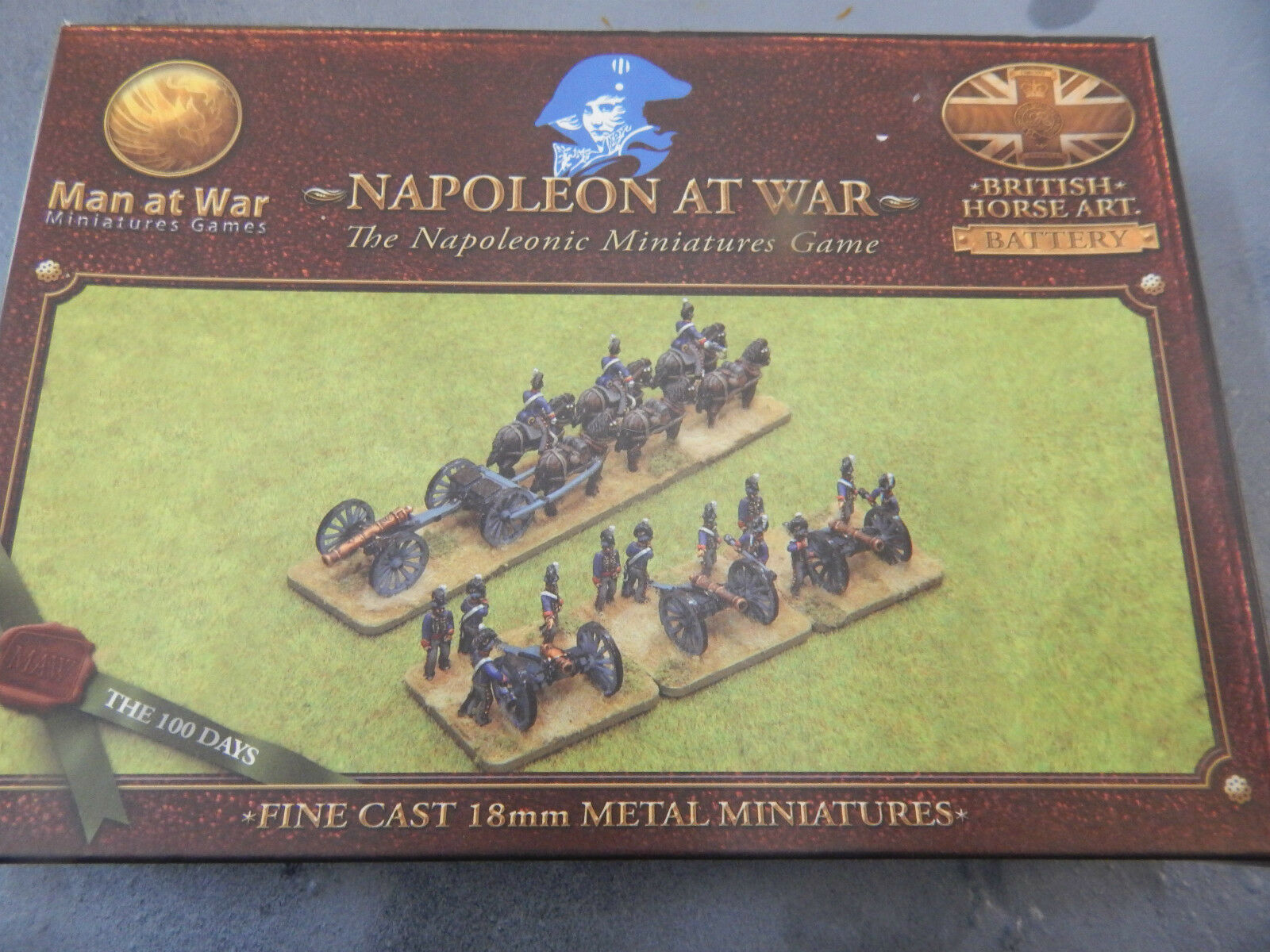 18mm metal boxed Napoleonic British Horse Artillery