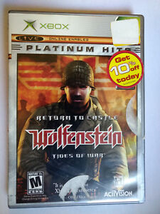 Return-to-Castle-Wolfenstein-Tides-of-War-Xbox-Complete-Manual-Disc-is-NM