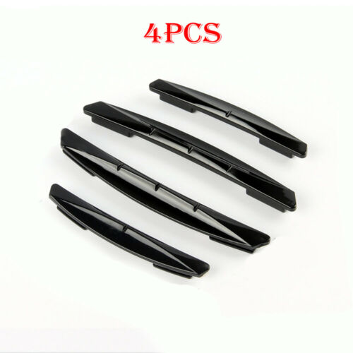 4Pcs Black Car Door Edge Scratch Anti-collision Protector Guard Strip Universal