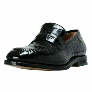 Salvatore-Ferragamo-Men-039-s-034-Tito-034-Croc-Leather-Loafers-Shoes-US-7-EE-IT-40-EE