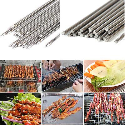 20x Edelstahl BBQ Nadel Grillspieße Barbecue Fleischspieße Schaschlikspieße