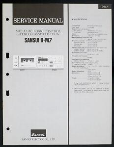Sansui-D-M7-Original-Logic-Control-Stereo-Cassette-Deck-Service-Manual-O153
