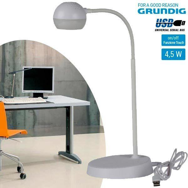Lampada da Tavolo Energia Solare Luce a LED da Esterno Grundig Bianco