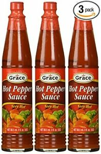 JAMAICAN-Grace-Hot-Pepper-Sauce-3-oz-Pack-of-3-FROM-JAMAICA