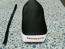 HONDA C50 CA100 CA102 C100 SEAT COVER + STRAP BLACK&WHITE (H45)