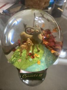 Bambi II Collectible Snow Globe. Disney. Bambi Learns from his Father. Rare.