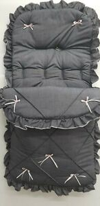 BEAUTIFUL FOOTMUFF  COLOUR  BLACK PRAM  COSYTOES