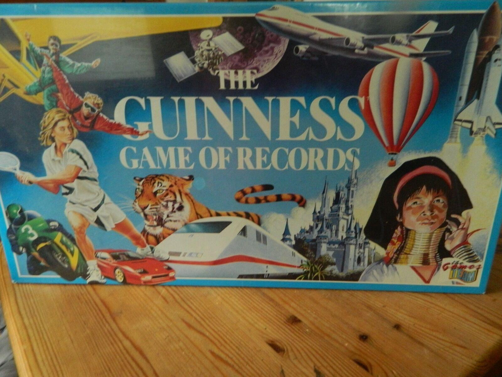Les récompenses de de de bonne chance du Nouvel An sont non-stop Vintage JEU GUINNESS DES RECORDS Neuf et scellé 1990 085ae4