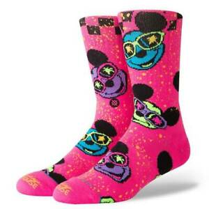 13344a7ddfbe Stance 90th Surprise Party Mickey Mouse Pink Socks Size Large 9-12 ...