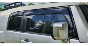 For-Toyota-FJ-Cruiser-06-17-Window-Visor-Vent-Sun-Shade-Rain-Guard-Smoke-Color