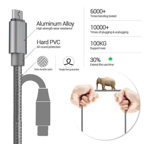 Samsung Galaxy S6 Edge S7 Note 5//4 A3//a5 15//16 Fast Charger USB Data Cable Lead
