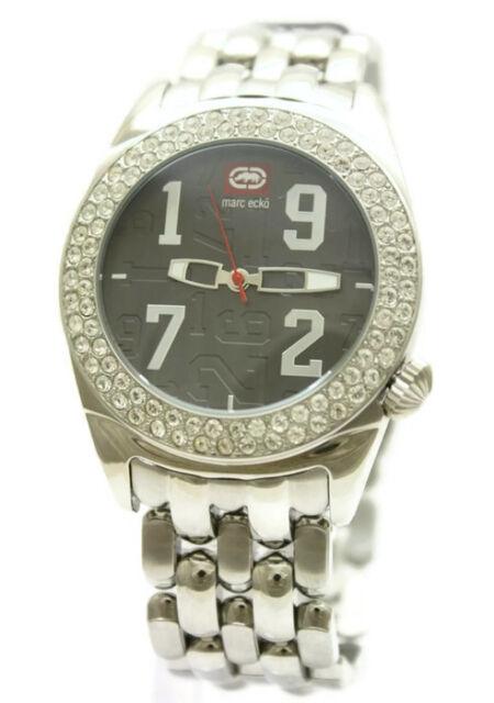 New Marc Ecko Stainless Steel Iced Men Oversize Bling Watch 45mm E15006G1 $150