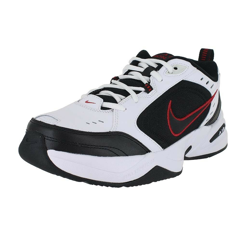 NIKE AIR MONARCH 4 4E EXTRA WIDE WHITE BLACK RED 416355-101 MENS US SIZES