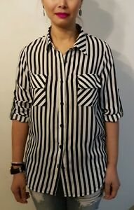 Black-and-White-Striped-Blouse